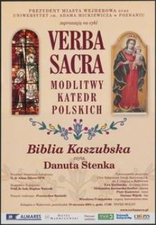 [Plakat] : Verba Sakra Modlitwy Katedr Polskich