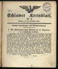 Schlawer Kreisblatt 1848