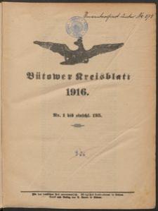 Bütower Kreisblatt 1916