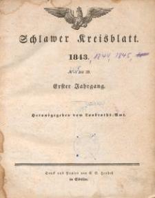 Kreisblatt des Königlichen Landraths-Amtes zu Schlawe 1843-1845