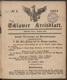 Schlawer Kreisblatt 1851