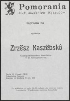 [Plakat] : Zrzësz Kaszëbskô