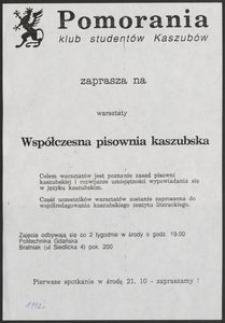 [Plakat] : Współczesna pisownia kaszubska