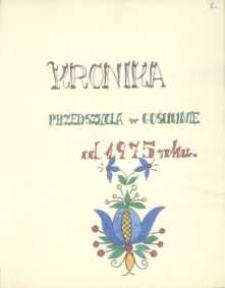 Kronika : Przedszkola w Gościcinie 1975-1979