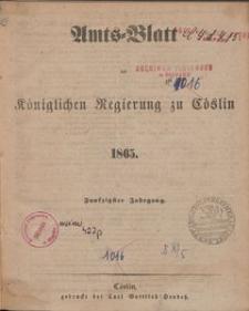 Amts-Blatt der Königlichen Regierung zu Cöslin 1865