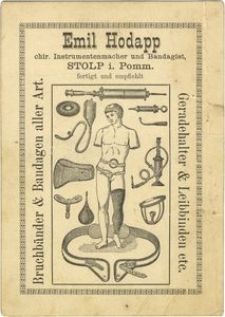 Emil Hodapp : chir. Instrumentenmacher und Bandagist