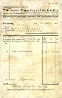 Th. von Dewitz - Lischnitz