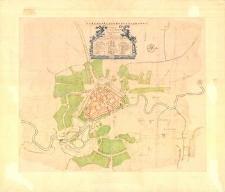 Grundriss der Stadt Stolp in Hinter-Pommernaufgenommen von Ernst Wilhelm Arndt. [Rzut poziomy miasta Słupska wykonany przez Ernesta Wilhelma Arndta]