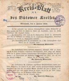 Kreisblatt des Bütower Kreises 1851