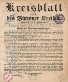 Kreisblatt des Bütower Kreises 1853