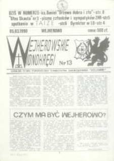 """Wejherowskie Widnokręgi Lokalne Pismo Pomorskiego Towarzystwa Samorządowego """"Solidarni"""" 1990, marzec, Nr - 13"""