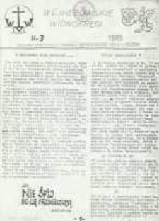 Wejherowskie Widnokręgi Biuletyn Informacyjny Oddziału Wejherowskiego KIK-u w Gdańsku, 1989, maj, Nr 3