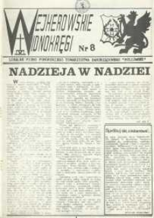"""Wejherowskie Widnokręgi Lokalne Pismo Pomorskiego Towarzystwa Samorządowego """"Solidarni"""", 1989, październik, Nr 8"""