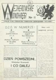 """Wejherowskie Widnokręgi Lokalne Pismo Pomorskiego Towarzystwa Samorządowego """"Solidarni"""", 1990, styczeń, Nr 11"""