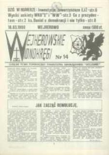 """Wejherowskie Widnokręgi Lokalne Pismo Pomorskiego Towarzystwa Samorządowego """"Solidarni"""", 1990, marzec, Nr 14"""