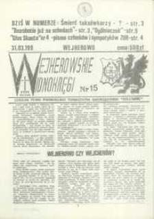 """Wejherowskie Widnokręgi Lokalne Pismo Pomorskiego Towarzystwa Samorządowego """"Solidarni"""", 1990, marzec, Nr 15"""