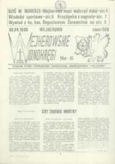 """Wejherowskie Widnokręgi Lokalne Pismo Pomorskiego Towarzystwa Samorządowego """"Solidarni"""", 1990, kwiecień, Nr 16"""