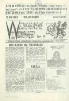 """Wejherowskie Widnokręgi Lokalne Pismo Pomorskiego Towarzystwa Samorządowego """"Solidarni"""", 1990, kwiecień, Nr 17"""