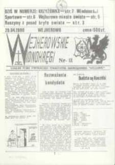 """Wejherowskie Widnokręgi Lokalne Pismo Pomorskiego Towarzystwa Samorządowego """"Solidarni"""", 1990, kwiecień, Nr 18"""