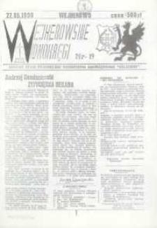 """Wejherowskie Widnokręgi Lokalne Pismo Pomorskiego Towarzystwa Samorządowego """"Solidarni"""", 1990, maj, Nr 19"""