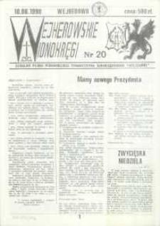 """Wejherowskie Widnokręgi Lokalne Pismo Pomorskiego Towarzystwa Samorządowego """"Solidarni"""", 1990, czerwiec, Nr 20"""