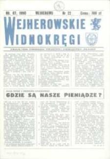 """Wejherowskie Widnokręgi Lokalne Pismo Pomorskiego Towarzystwa Samorządowego """"Solidarni"""", 1990, lipiec, Nr 22"""