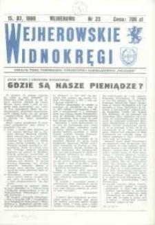 """Wejherowskie Widnokręgi Lokalne Pismo Pomorskiego Towarzystwa Samorządowego """"Solidarni"""", 1990, lipiec, Nr 23"""