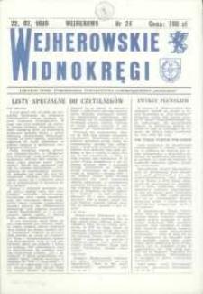 """Wejherowskie Widnokręgi Lokalne Pismo Pomorskiego Towarzystwa Samorządowego """"Solidarni"""", 1990, lipiec, Nr 24"""
