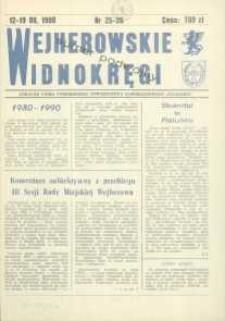 """Wejherowskie Widnokręgi Lokalne Pismo Pomorskiego Towarzystwa Samorządowego """"Solidarni"""", 1990, sierpień, Nr 25-26"""
