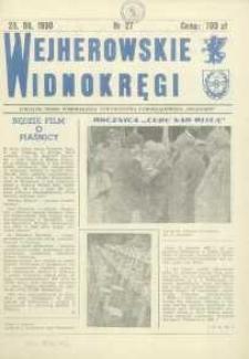 """Wejherowskie Widnokręgi Lokalne Pismo Pomorskiego Towarzystwa Samorządowego """"Solidarni"""", 1990, sierpień, Nr 27"""