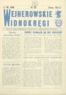 """Wejherowskie Widnokręgi Lokalne Pismo Pomorskiego Towarzystwa Samorządowego """"Solidarni"""", 1990, wrzesień, Nr 28"""