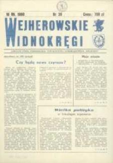 """Wejherowskie Widnokręgi Lokalne Pismo Pomorskiego Towarzystwa Samorządowego """"Solidarni"""", 1990, Nr 30"""