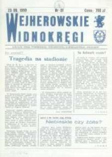 """Wejherowskie Widnokręgi Likalne Pismo Pomorskiego Towarzystwa Samorządowego """"Solidarni"""", 1990, wrzesień, Nr 31"""