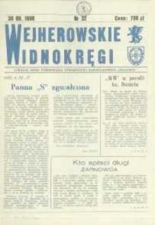 """Wejherowskie Widnokręgi Lokalne Pismo Pomorskiego Towarzystwa Samorządowego """"Solidarni"""", 1990, wrzesień, Nr 32"""