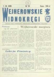 """Wejherowskie Widnokręgi Lokalne Pismo Pomorskiego Towarzystwa Samorządowego """"Solidarni"""", 1990, październik, Nr 33"""
