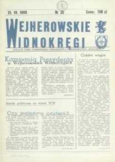 """Wejherowskie Widnokręgi Lokalne Pismo Pomorskiego Towarzystwa Samorządowego """"Solidarni"""", 1990, październik, Nr 35"""