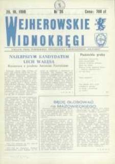 """Wejherowskie Widnokręgi Lokalne Pismo Pomorskiego Towarzystwa Samorządowego """"Solidarni"""", 1990, październik, Nr 36"""