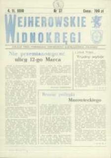 """Wejherowskie Widnokręgi Lokalne Pismo Pomorskiego Towarzystwa Samorządowego """"Solidarni"""", 1990, listopad, Nr 37"""