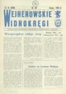 """Wejherowskie Widnokręgi Lokalne Pismo Pomorskiego Towarzystwa Samorządowego """"Solidarni"""", 1990, listopad, Nr 38"""