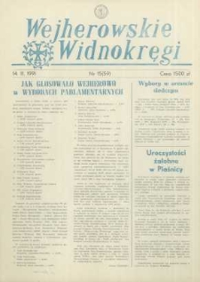 Wejherowskie Widnokręgi, 1991, listopad, Nr 15 (59)