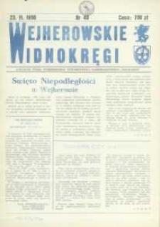 """Wejherowskie Widnokręgi Lokalne Pismo Pomorskiego Towarzystwa Samorządowego """"Solidarni"""", 1990, listopad, Nr 40"""