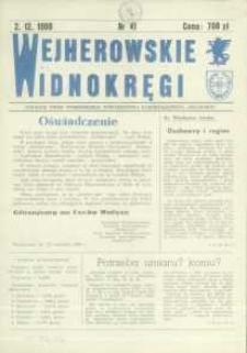 """Wejherowskie Widnokręgi Lokalne Pismo Pomorskiego Towarzystwa Samorządowego """"Solidarni"""", 1990, grudzień, Nr 41"""