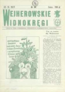 """Wejherowskie Widnokręgi Lokalne Pismo Pomorskiego Towarzystwa Samorządowego """"Solidarni"""", 1990, grudzień, Nr 44"""