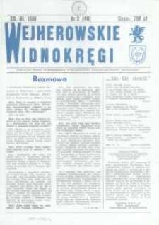 """Wejherowskie Widnokręgi Lokalne Pismo Pomorskiego Towarzystwa Samorządowego """"Solidarni"""", 1991, styczeń, Nr 2 (46)"""