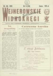 """Wejherowskie Widnokręgi Lokalne Pismo Pomorskiego Towarzystwa Samorządowego """"Solidarni"""", 1991, luty, Nr 6 (50)"""