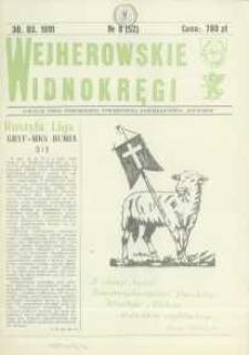 """Wejherowskie Widnokręgi Lokalne Pismo Pomorskiego Towarzystwa Samorządowego """"Solidarni"""", 1991, marzec, Nr 8 (52)"""