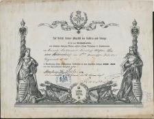 [Wyróżnienie za udział w wojnie francusko-pruskiej z lat 1870-1871 dla Friedricha Wilhelma Maxa von Hohendorff]