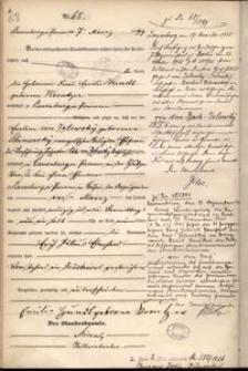 Akt urodzenia Ericha Juliusa Eberharda von dem Bach Zelewskiego