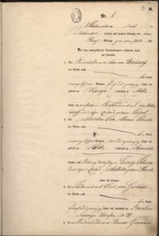 Akt ślubu Maxa von Hohendorff z Eva Alwine Schultz, s. 1