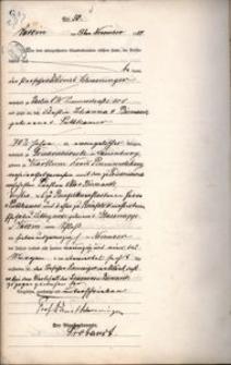 Akt zgonu Johanny von Bismarck